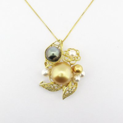 【JHT金宏總珠寶/GIA鑽石專賣】天然珍珠鑽石墜鍊/材質:750(JB47-A31)