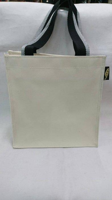 @【 乖乖的家】~~(保證最低價)素面空白餐袋/書包/手提袋/便當袋(台灣製) ~~(超低價100元 )小 米白色