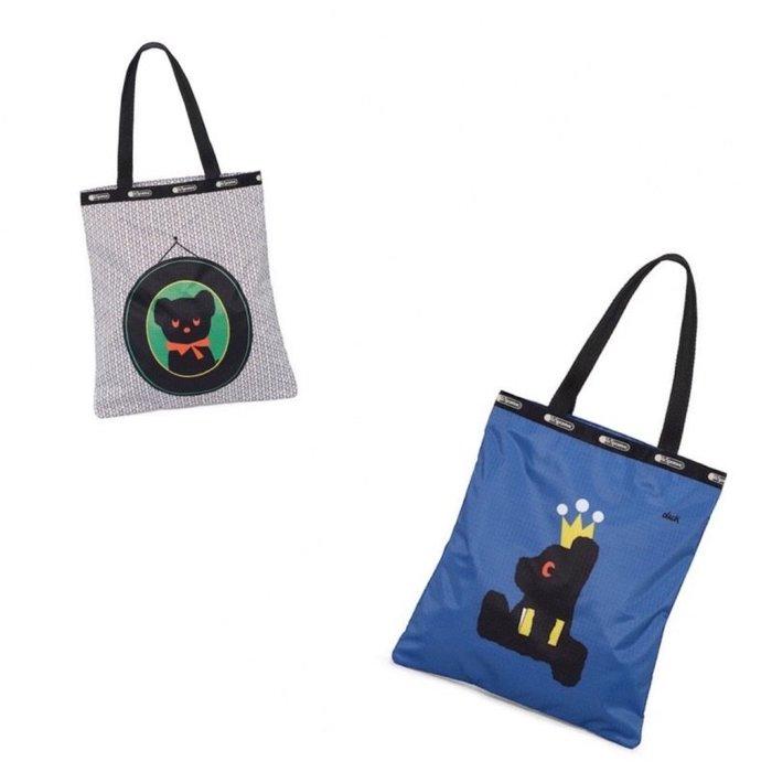♥ 小花日韓雜貨 ♥ -- lesportsac 2339 BLACK BEAR中款肩背包手提包