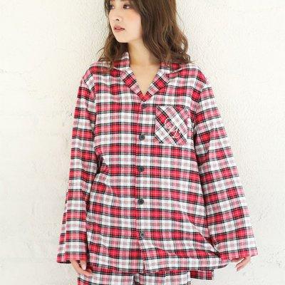 Pied Piper日本代購 CS109 aimer feel紅色系甜蜜格紋長褲睡衣組