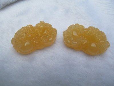 天然新疆米黃玉 貔貅玉飾品 玉器 飾品 米黃玉 吊墬