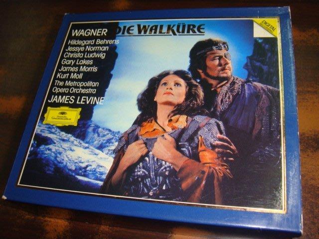 好音悅 全銀圈 Levine 李汶 Wagner 華格納 Die Walkure 女武神 4CD DG 西德PDO版