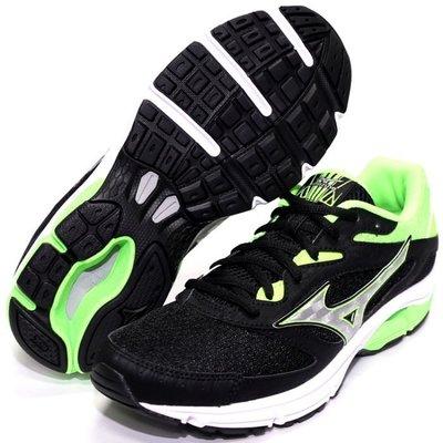 MIZUNO美津濃 SURGE 男慢跑鞋(黑綠)J1GC171303