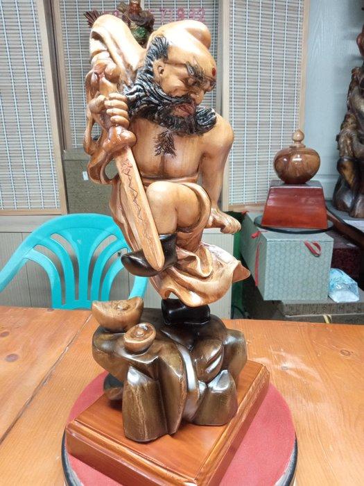 1呎3 天師鐘魁 樟木雕刻 作者:柯金仲
