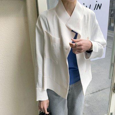 Bellee  正韓   造型大口袋側開扣翻領外套   (3色)【AP1902】 預購