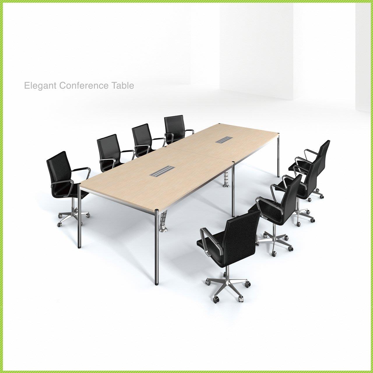 【OA批發工廠】IMMENSE 系統會議桌 洽談桌 美耐板桌 單開線槽盒 大型會議桌 簡約現代設計 客製品需先詢價