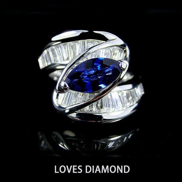 【LOVES鑽石批發】日本進口精品款~天然鑽石珠寶戒-《藍青之丘》閃耀光芒-另售GIA鑽石 LOVES DIAMOND