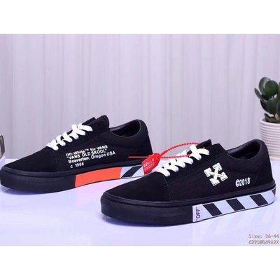 VANS 新款 黑白條 低幫 帆布鞋 休閒鞋