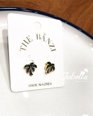 ✽JoBella 韓國空運 韓國代購 韓貨✽ 椰子樹防過敏針式防過敏耳環 現貨+預購