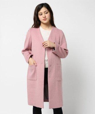 ☆注目の日本百貨公司品牌CLEAR IMPRESSION 冬雜誌新款粉紅紫長大衣外套☆