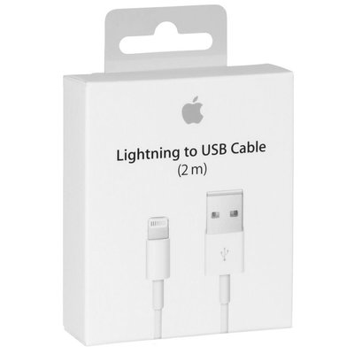 《阿玲》Apple Lightning 8 pin 原廠傳輸充電線 (2m) iPhone / iPad / iPod
