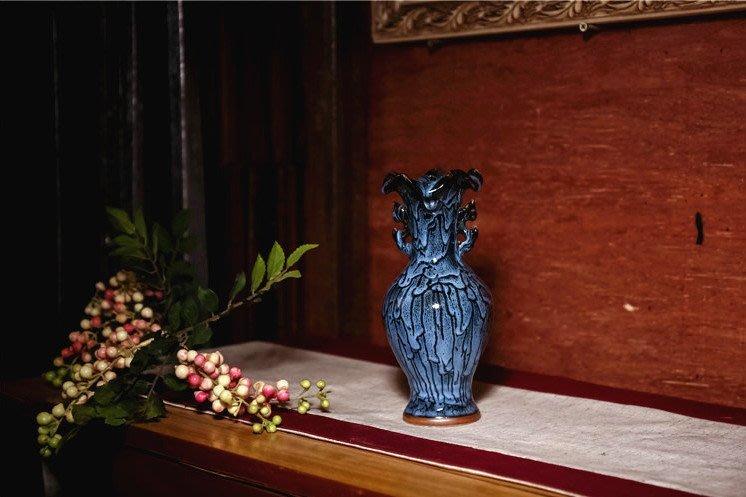 景德鎮陶瓷器鈞窯小花瓶 荷口樽 開心陶瓷95