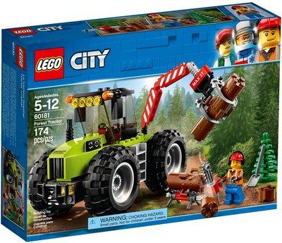 【樂GO】 LEGO 樂高 60181 CITY 城市系列 森林拖拉機 原廠正版