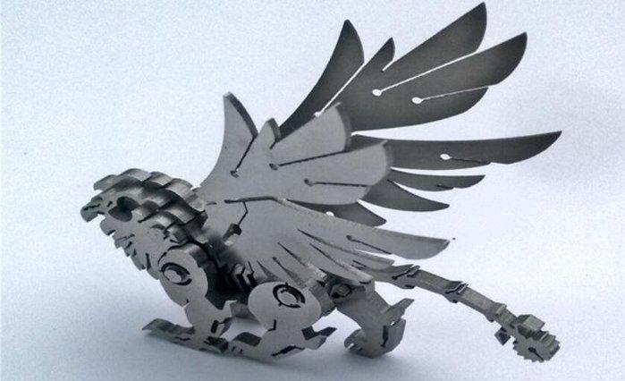 獅鷲 吉祥神獸 鋼魔像 不鏽鋼全金屬拼裝模型