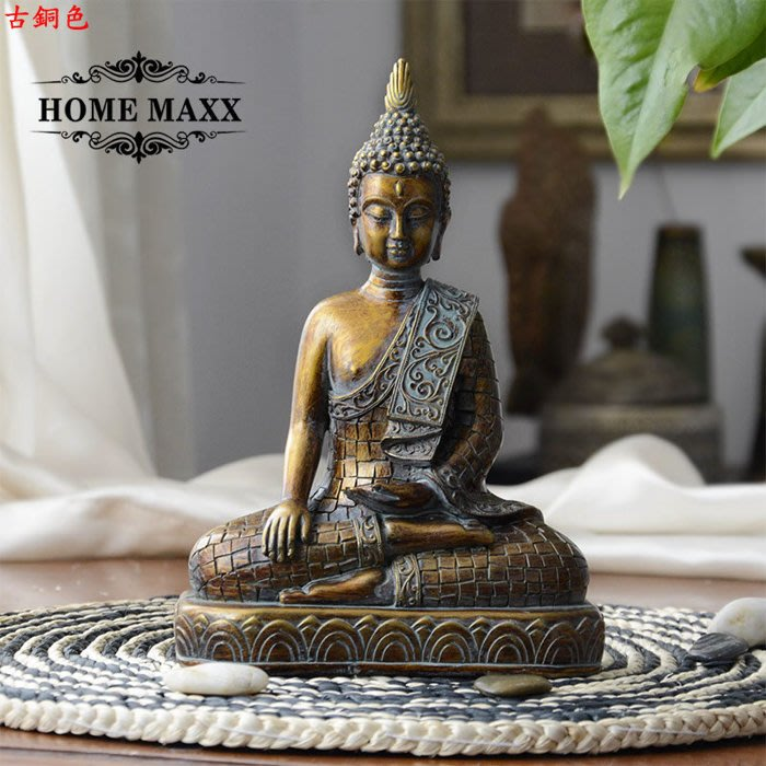 【古韻之家】桌面擺件釋迦摩尼/ 如來佛祖佛像/ 保平安風水/ 泰國佛頭工藝品