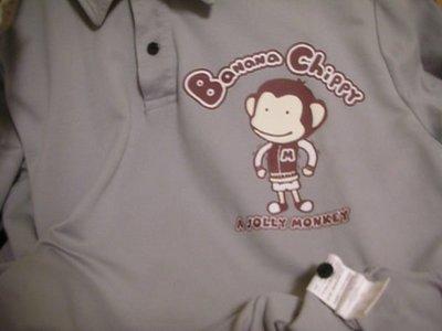 二手衣況佳約九成新 / 馬桶洋行 Banana Chippy 氣質灰彈性佳 FIT 版型男長袖有領 POLO 休閒衫