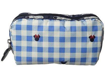 預購 美國 Lesportsac Disney 限量聯名款 淺藍迪士尼刺繡米奇米妮化妝包 手拿包 生日禮