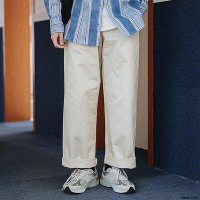 『MISS.小屋』PSYCHE國潮牌日系復古卡其色直筒工裝褲男女同款百搭寬松百搭長褲DF612