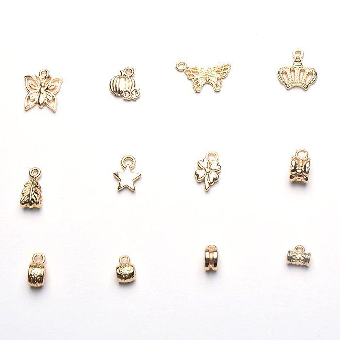 DIY飾品配件 銅鍍金保色蝴蝶管套 手鏈項鏈配飾批發