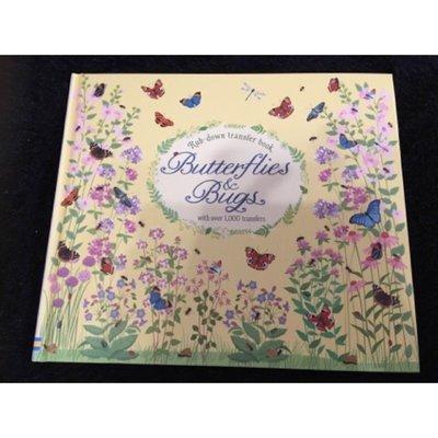 轉印書/Butterflies and Bugs rub-down transfer book 蝴蝶飛舞,最美麗的著色轉印書【樂彼家居】JNHDOWIR