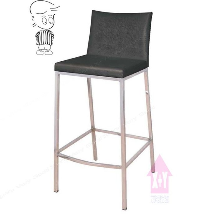 【X+Y時尚精品傢俱】現代吧台椅系列-歐可 電鍍吧檯椅(黑色).高腳椅-適合餐廳.居家使用.可當洽談椅.摩登傢俱