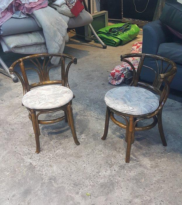 樂居二手家具 台中全新中古傢俱家電 A407HJ 藤製布面餐椅*休閒椅 藤椅 洽談椅 書桌椅 電腦椅 2手各式桌椅拍賣