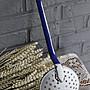 法國白藍雙色琺瑯大湯匙 歐洲古董老件(00_AA-364)【小學樘_歐洲老家具】
