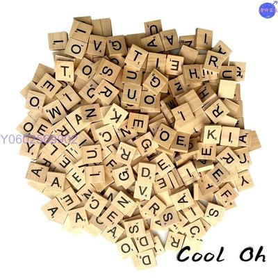 【大量現貨】木質字母拼字木片組 scrabble 大寫、小寫、大小寫混裝 英文字母木片  港仔先生4454