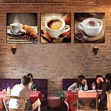 咖啡廳裝飾畫酒吧複古懷舊咖啡館壁畫咖啡店西餐廳掛畫網吧無框畫(6款可選)