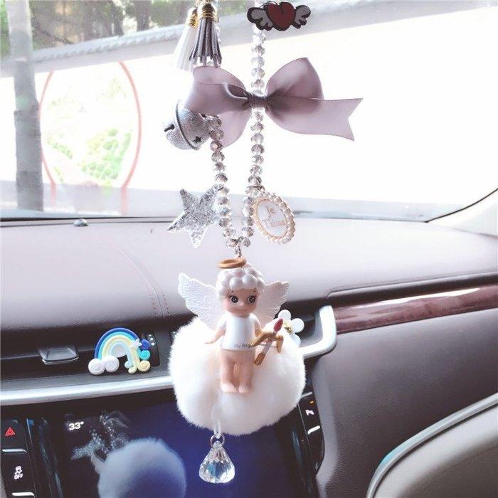 丘比惡魔天使娃娃獨角獸天馬可愛卡通後視鏡掛件車內裝飾