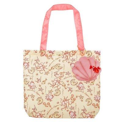 *B' Little World * [現貨]東京迪士尼專賣店限定商品/小美人魚貝殼環保購物袋/Ariel/東京連線