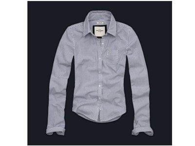 美國正品 Abercrombie Kids (af kids)  長袖條紋襯衫  XL