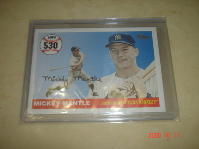 美國職棒 Yankees Mickey Mantle 2008 Topps #MHR530 球員卡