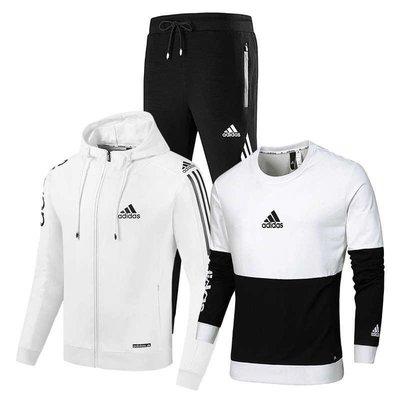 『Fashion❤House』新款運動愛迪達三件套潮流素色跑步套裝百搭三件套運動套裝adidas三件套