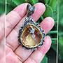 Crystal~ Y02 天然 黃水晶 古典銀墜,只給第一標~
