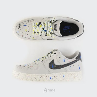 NIKE AIR FORCE 1 LOW COVERED IN PAINT SPLATTER 心情差的畢卡索 黑勾 CZ