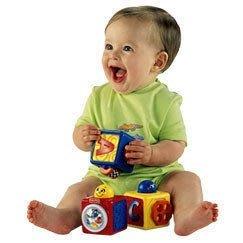 ♪♫瑋瑋城堡✲玩具出租♪♫ (二手出售)Fisher Price費雪 疊疊小方塊(A)