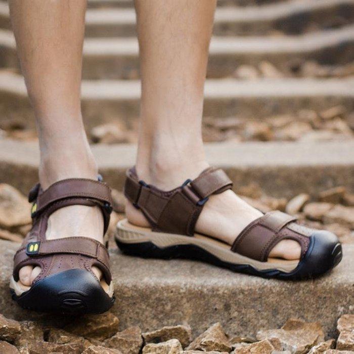 真皮涼鞋 戶外休閒溯溪鞋 沙灘鞋nx2372 【創意家居】