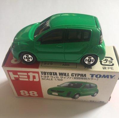 Tomy Toyota Will Cypha No:88 Car全新正貨車仔