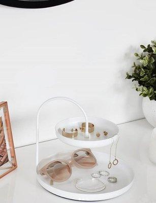 [SECOND LOOK]加拿大雜貨 純白色 極簡感 大型 雙層 首飾 雜物 收納架