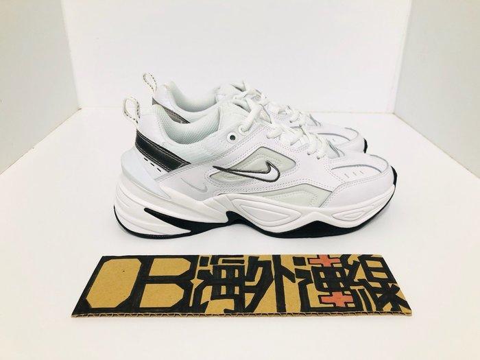 Nike Monarch M2K Tekno 復古 老爹鞋 白銀 皮革 黑底 厚底 增高 男女鞋 BQ3378-100