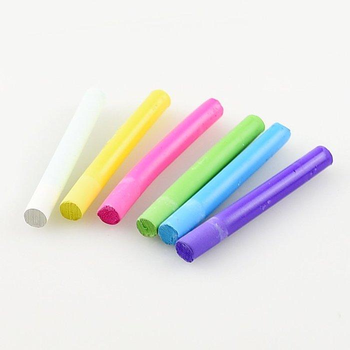 文具 ◎日本◎ 日本理化學工業 粉筆 貝殼粉 白色 彩色 6色組 細版 日本製