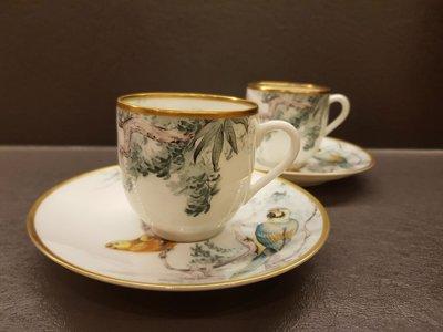 全新 Hermes 赤道叢林 咖啡杯 兩杯兩盤組