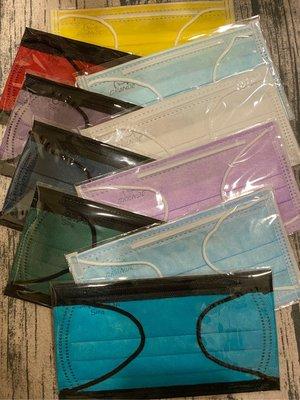 限量 淨新 格安德 成人 平面 口罩 10入組合包 撞色/單色一次滿足