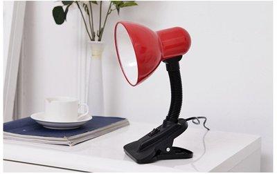 折疊護眼檯燈 學生學習閱讀夾子檯燈 E27頭 螺旋燈泡可用節能護眼
