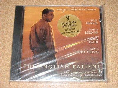美版CD電影原聲帶《英倫情人》 /  THE ENGLISH PATIENT 全新未拆