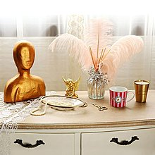 〖洋碼頭〗印度進口手工制黃銅玻璃割花珠寶首飾託盤梳粧檯飾品擺件 shx234