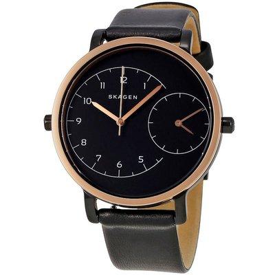 現貨 可自取 SKAGEN SKW2475 手錶 36mm 玫瑰金 雙時區 皮革錶帶 女錶