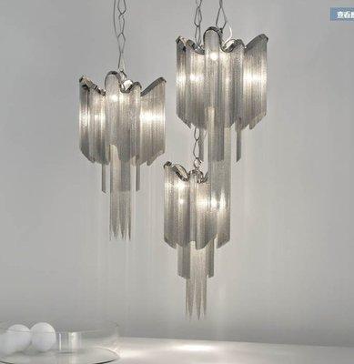 luxurious 意大利 吊鏈燈 後現代 流蘇燈 輕奢華 酒店別墅 客廳 鋁鏈吊燈