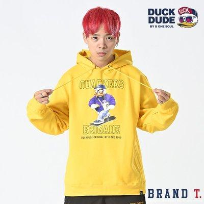 【Brand T】免運 達酷鴨 DUCK DUDE SK8 DUDE HOODIE 黃色*滑板*鴨子*連帽*T恤*帽T